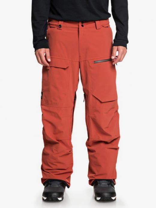 Hombre Travis Rice Stretch Pantalon Para Nieve Barn Red Pantalones De Snow Quiksilver Rumahkukis